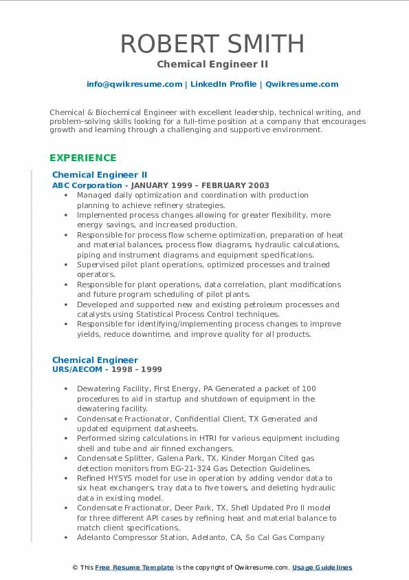 chemical engineer resume samples qwikresume for industry pdf manager sample of Resume Resume For Chemical Industry
