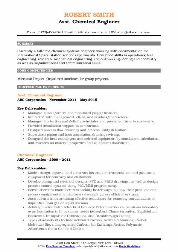 chemical engineer resume samples qwikresume model pdf collections representative latest Resume Chemical Engineer Resume Model