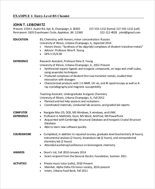 chemical engineer resume template free word pdf documents premium templates model entry Resume Chemical Engineer Resume Model
