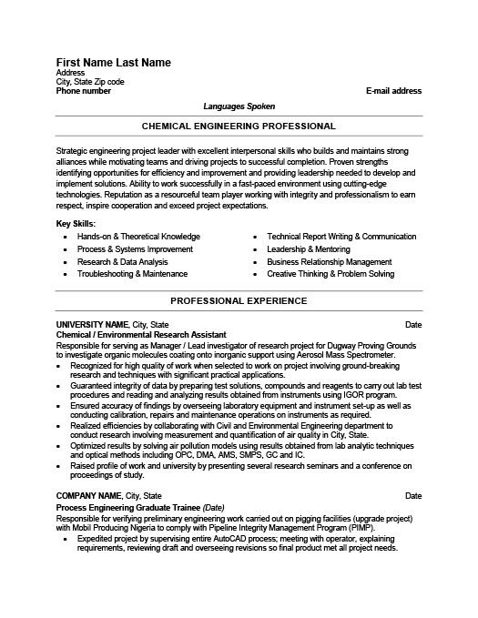 chemical engineer resume template premium samples example model market research executive Resume Chemical Engineer Resume Model