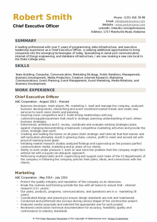 chief executive officer resume samples qwikresume format for retired government pdf Resume Resume Format For Retired Government Officer