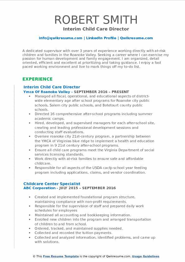child care director resume samples qwikresume assistant pdf full block style unsolicited Resume Child Care Assistant Director Resume