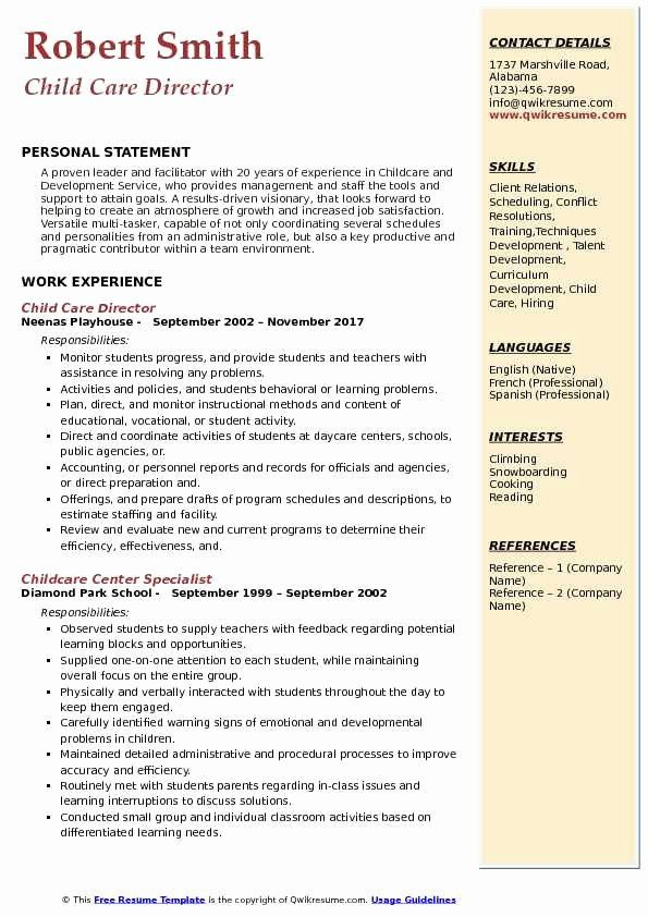 child care experience resume fresh director samples in job good examples assistant Resume Child Care Assistant Director Resume