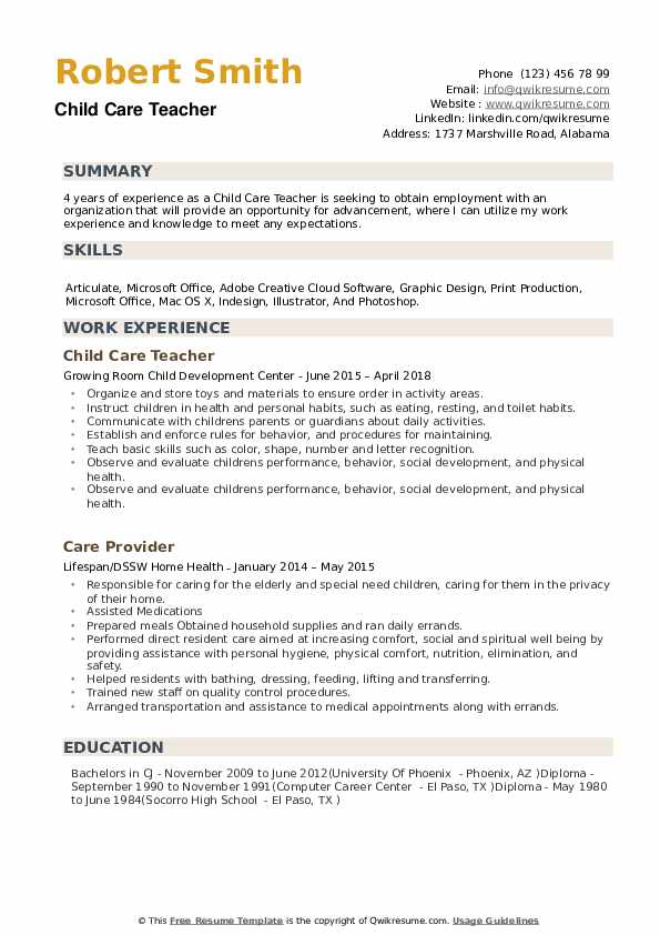 child care teacher resume samples qwikresume daycare skills for pdf free clerical Resume Daycare Teacher Skills For Resume