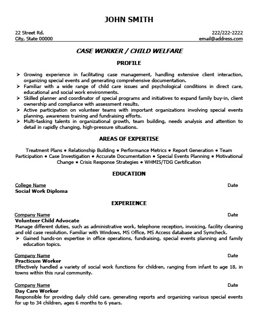 child welfare case worker resume template premium samples example care social free Resume Foster Care Social Worker Resume