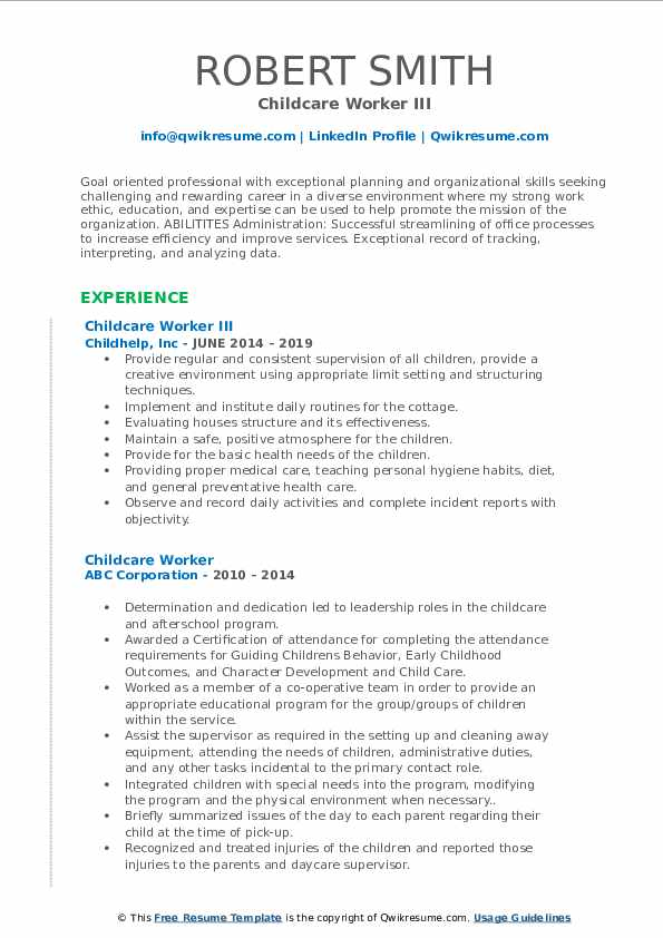 childcare worker resume samples qwikresume daycare duties pdf telephony film template Resume Daycare Worker Resume Duties