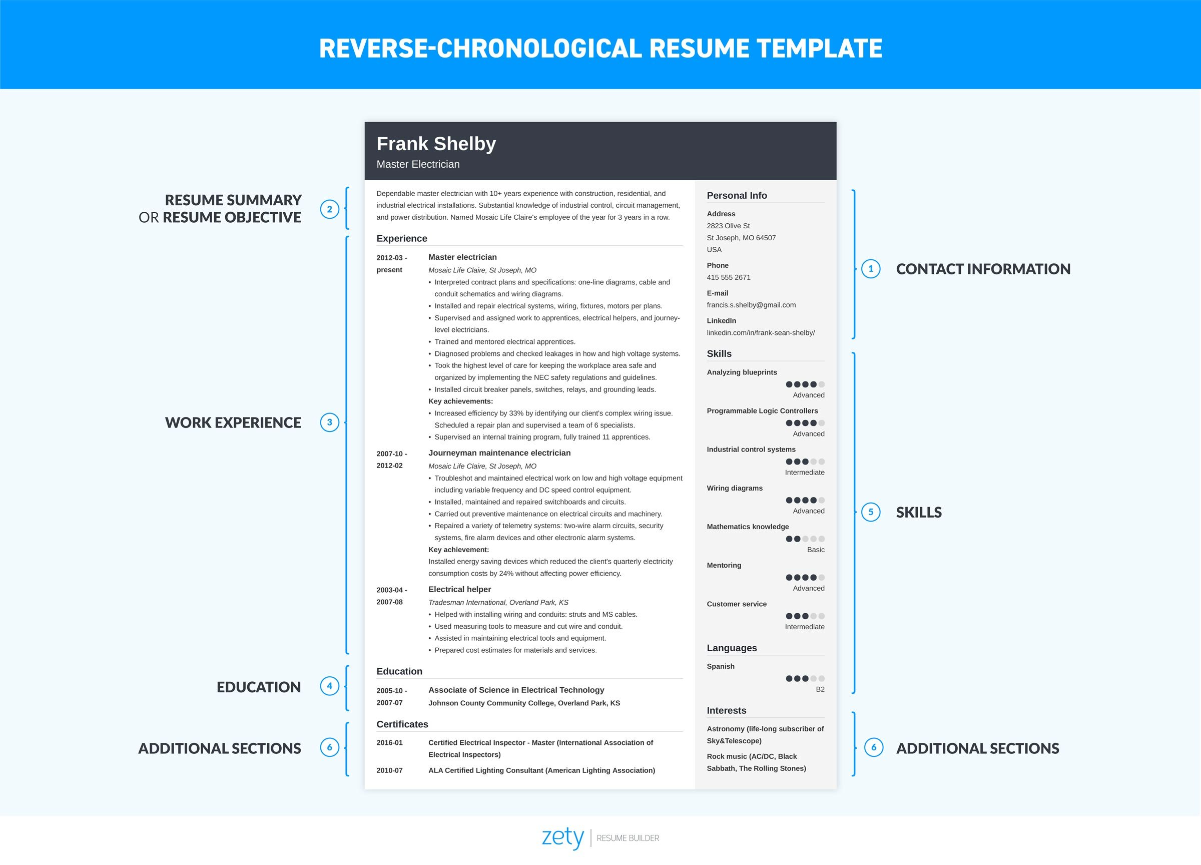 chronological resume template format examples current samples to write on the job Resume Current Resume Samples 2019