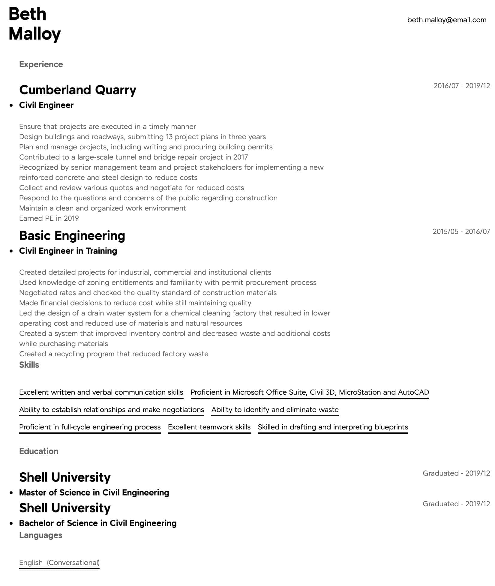 civil engineer resume samples all experience levels assistant intermediate pete buttigieg Resume Assistant Civil Engineer Resume
