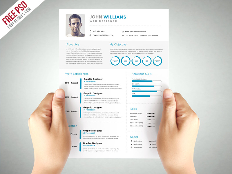 clean and elegant resume template free psdfreebies forensic science sample ta skills Resume Elegant Resume Template