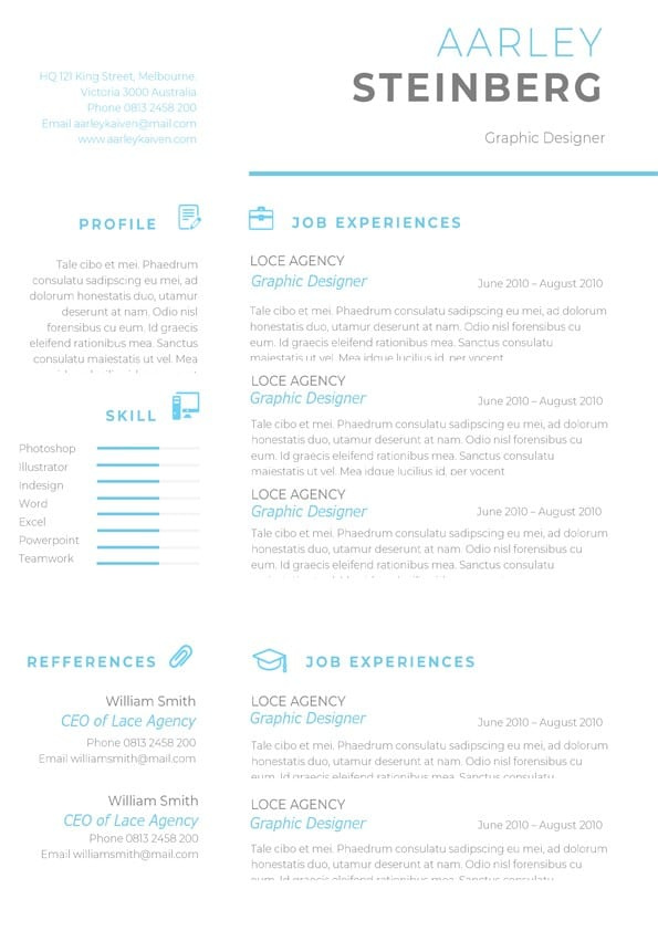 clean minimalist resume template for word headline tips construction project engineer Resume Minimalist Resume Template