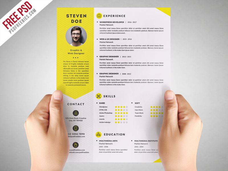 clean resume cv template free psdfreebies best templates photoshop marketing analyst Resume Free Resume Photoshop Templates