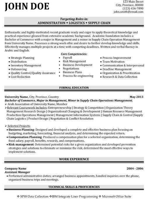 click here to this administration logistics resume template http resumetemplates101 Resume Logistics Engineer Resume