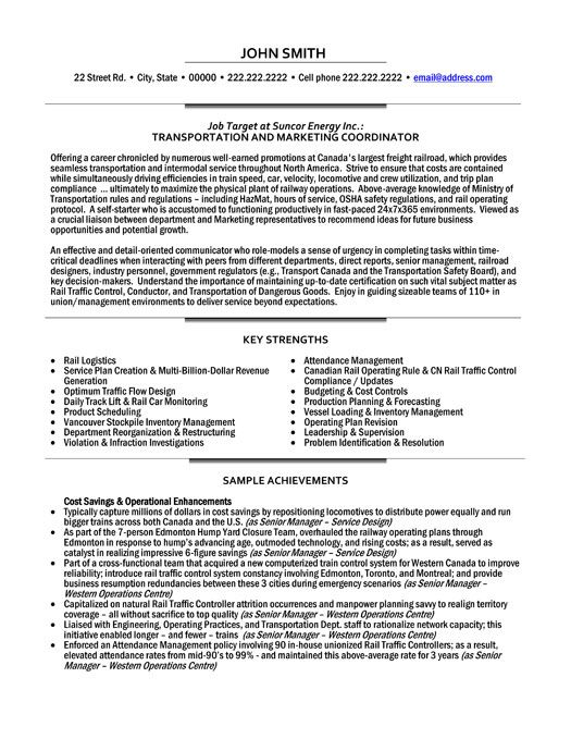 click here to this transportation and marketing coordinator resume template http Resume Compliance Coordinator Job Description For Resume