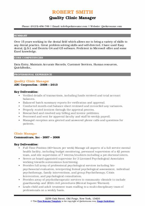 clinic manager resume samples qwikresume healthcare office sample pdf difference between Resume Healthcare Office Manager Resume Sample