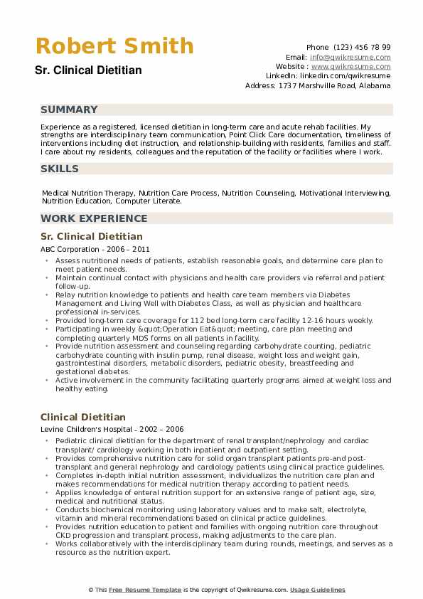 clinical dietitian resume samples qwikresume registered pdf free simple layout builder Resume Registered Dietitian Resume
