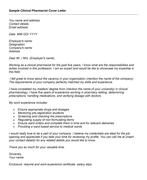 clinical pharmacist cover letter examples resume economic support specialist personal Resume Pharmacist Resume Cover Letter Examples