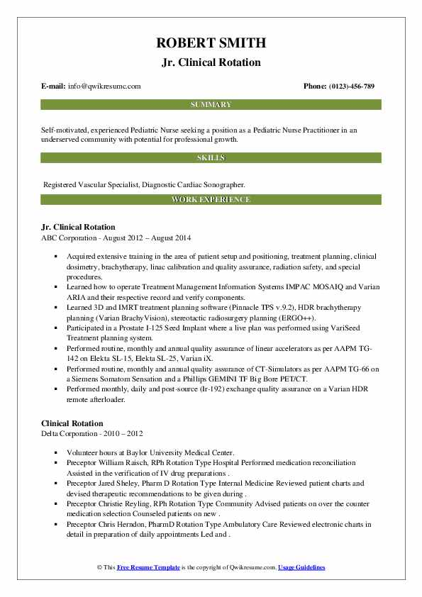clinical rotation resume samples qwikresume with experience pdf pilot skills bachelor of Resume Resume With Clinical Experience