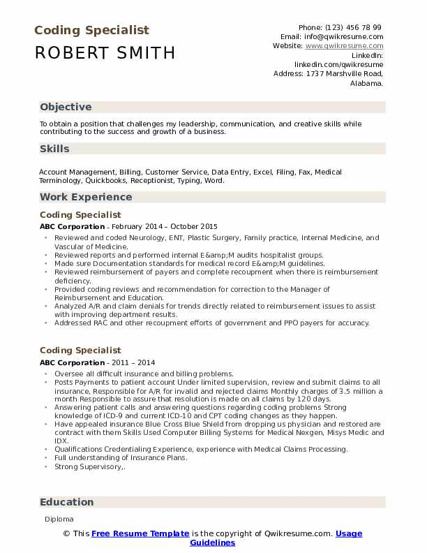 coding specialist resume samples qwikresume format for medical job pdf proper monique Resume Resume Format For Medical Coding Job