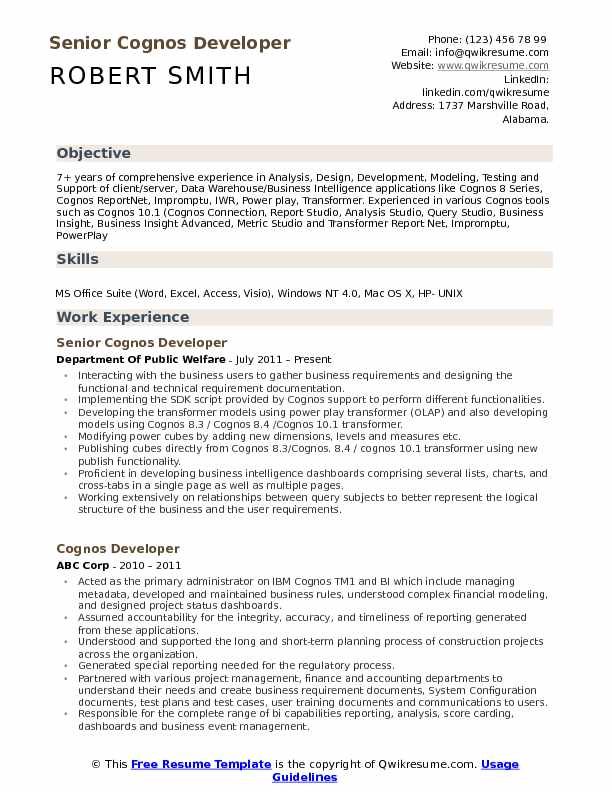 cognos developer resume samples qwikresume sample for report pdf military members email Resume Sample Resume For Cognos Report Developer