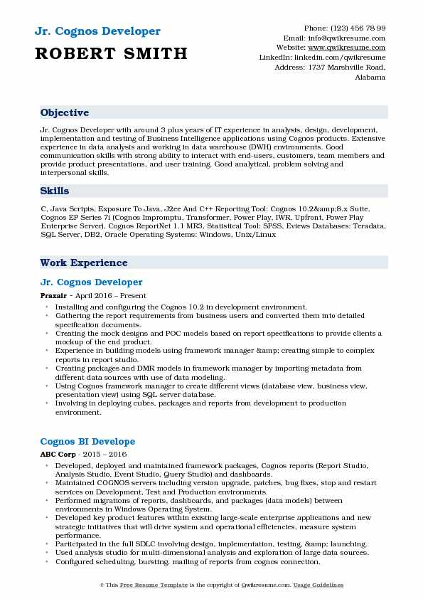 cognos developer resume samples qwikresume sample for report pdf process improvement Resume Sample Resume For Cognos Report Developer