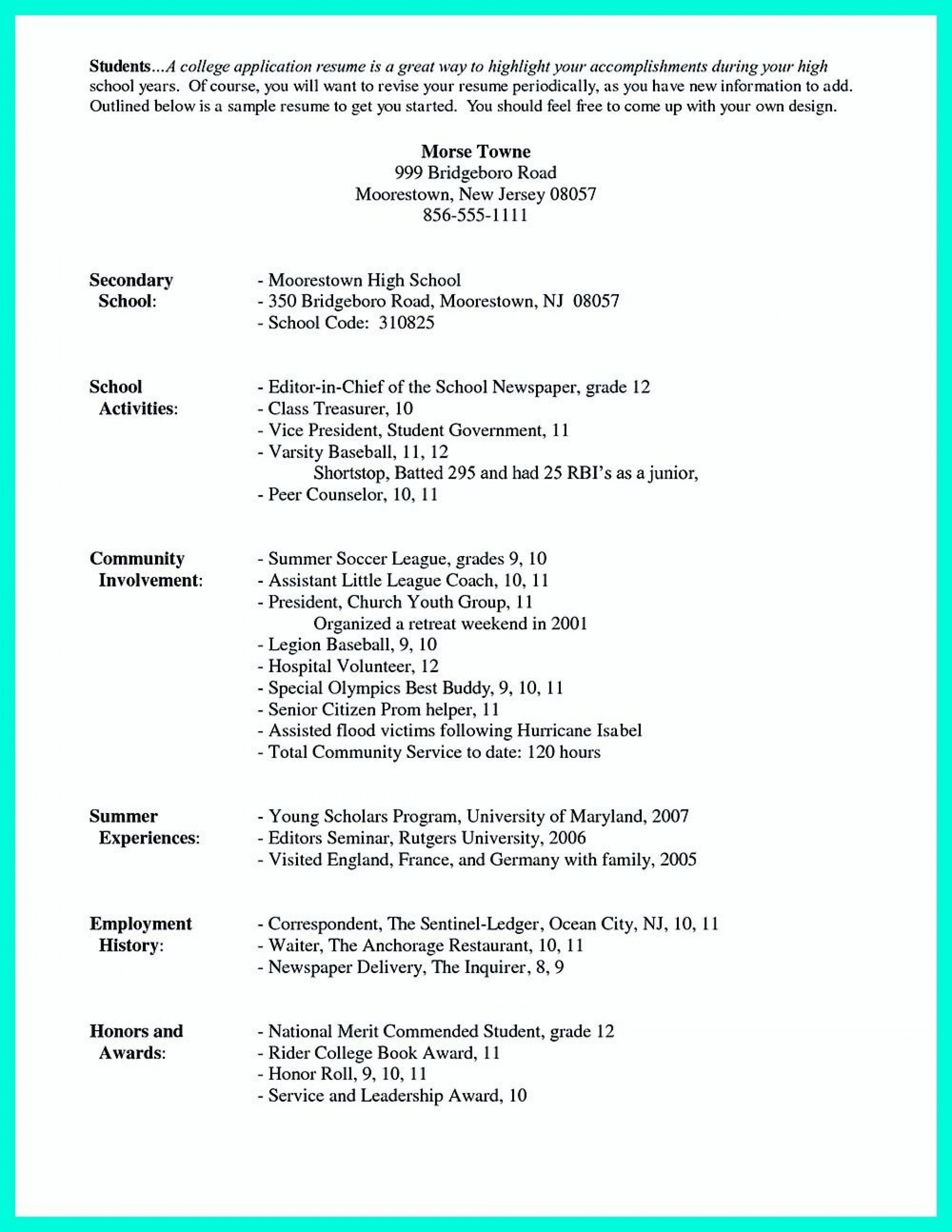 college admission resume templates addictionary for awful admissions sample rf Resume Resume For College Admission
