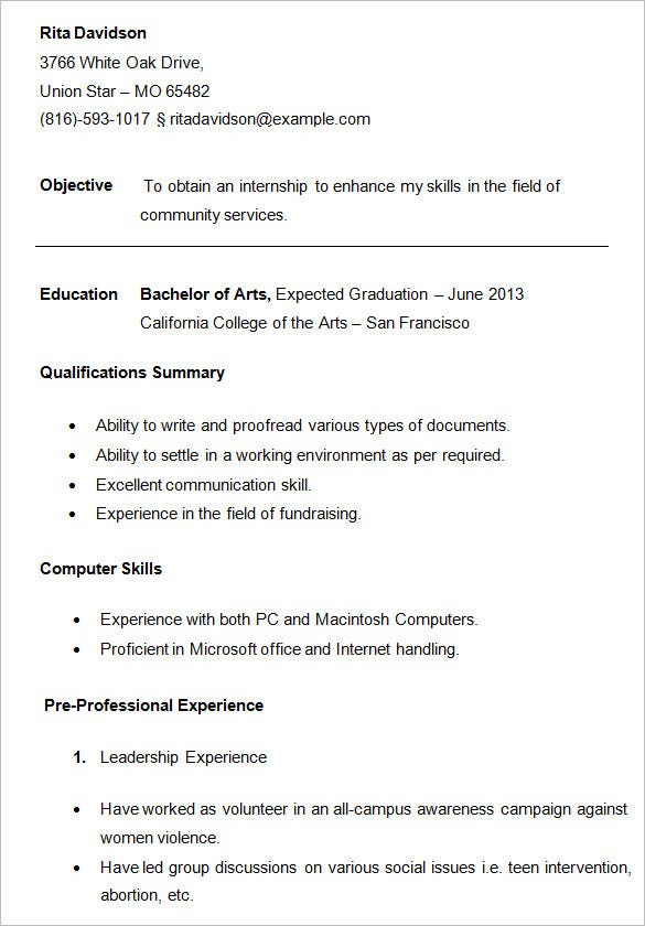 college resume template sample examples free premium templates best for students student Resume Best Resume Templates For Students