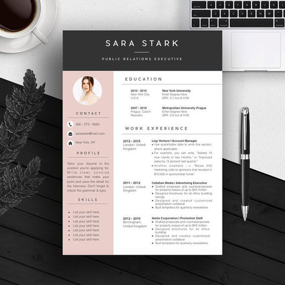 color blocking and the colors are professional creatief cv sjabloon creatieve resume Resume Professional Resume Colors