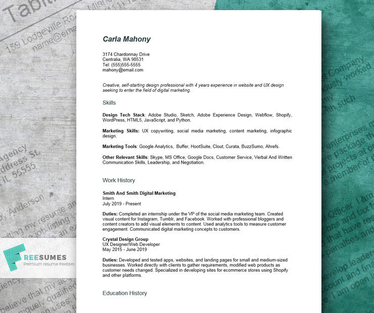 combination resume example for career changers and recent graduates freesumes sample Resume Combination Resume Sample