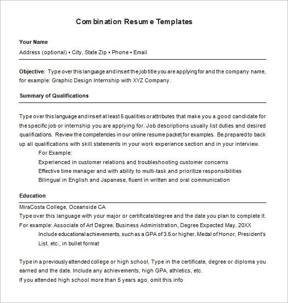 combination resume template free samples examples format premium templates microsoft soft Resume Combination Resume Format