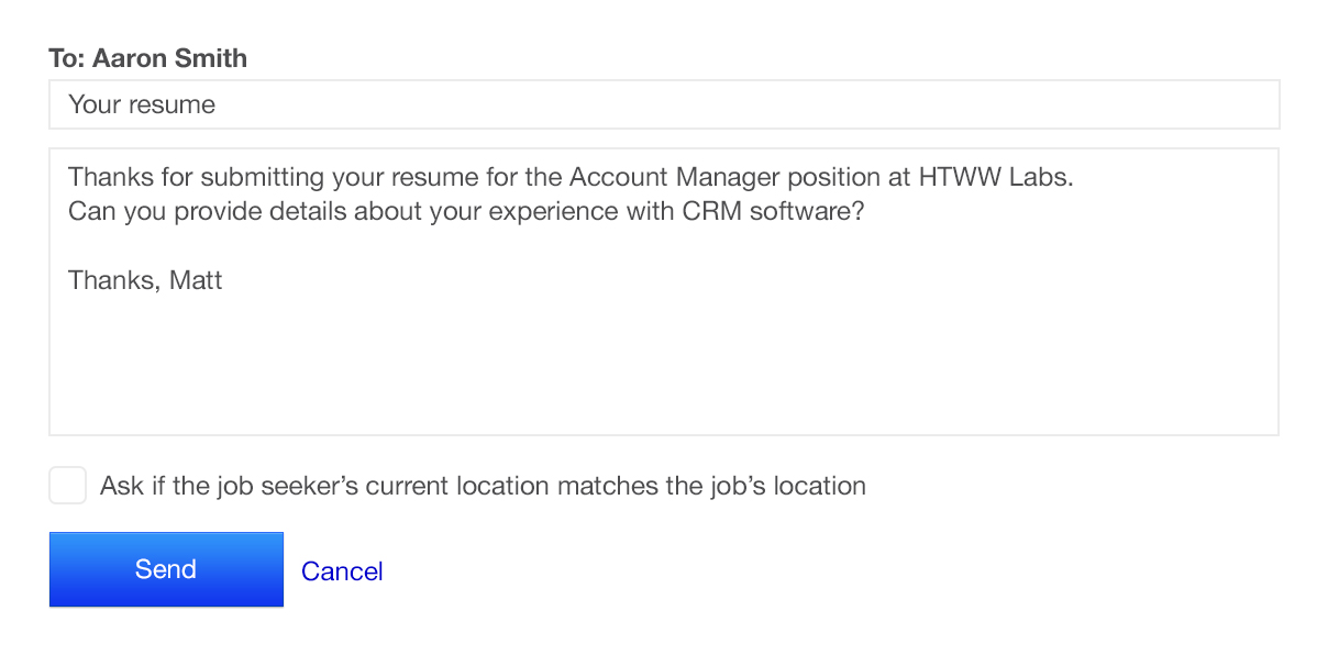 communicating with candidates on indeed request resume from candidate message active Resume Request Resume From Candidate