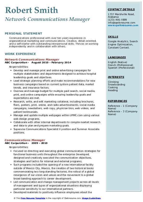 communications manager resume samples qwikresume business communication example pdf Resume Business Communication Resume Example
