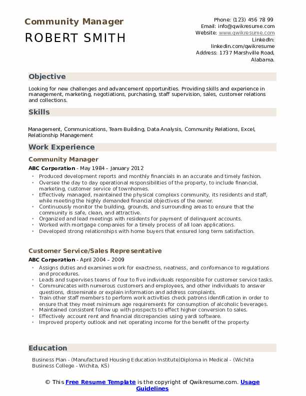 community manager resume samples qwikresume objective pdf phlebotomy supervisor photoshop Resume Community Manager Resume Objective