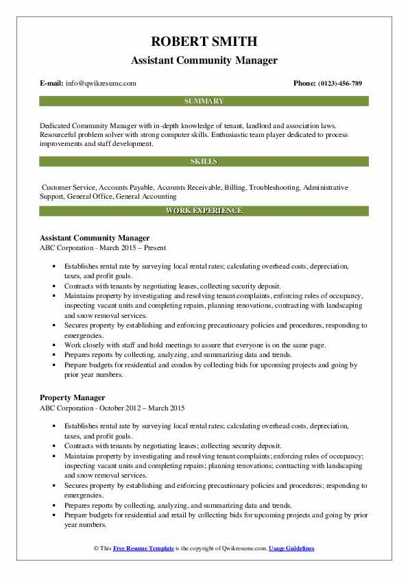 community manager resume samples qwikresume template pdf personal statement for nursing Resume Community Manager Resume Template