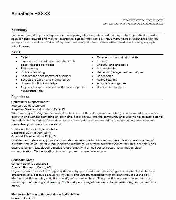 community support worker examples resumes livecareer service resume example headline Resume Community Service Worker Resume Example