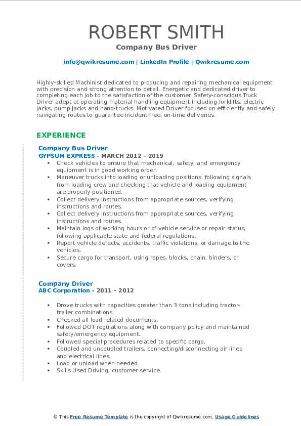 company driver resume samples qwikresume city bus sample pdf construction office manager Resume City Bus Driver Resume Sample