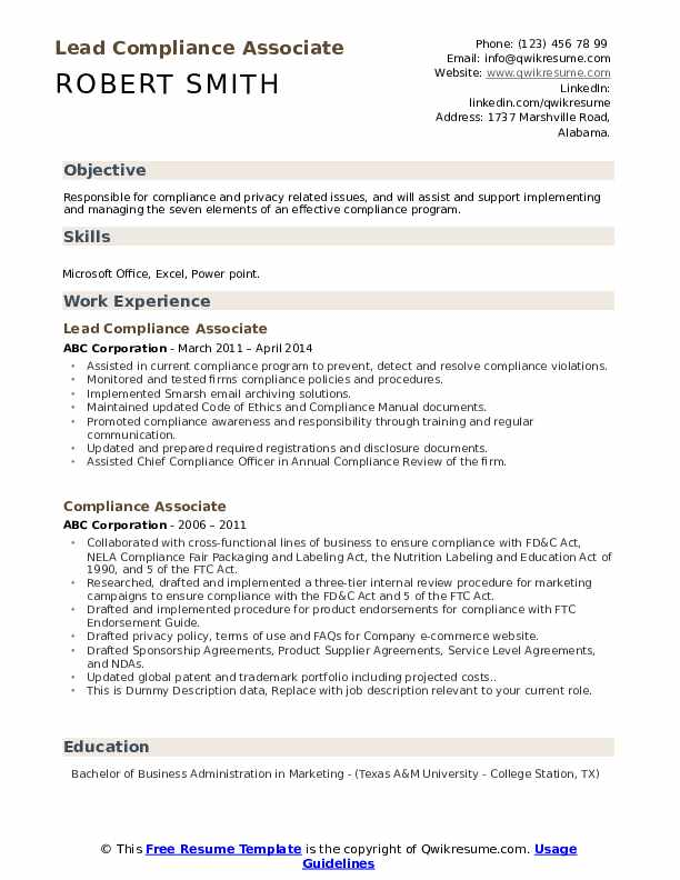 compliance associate resume samples qwikresume pdf summary examples for marketing Resume Compliance Associate Resume