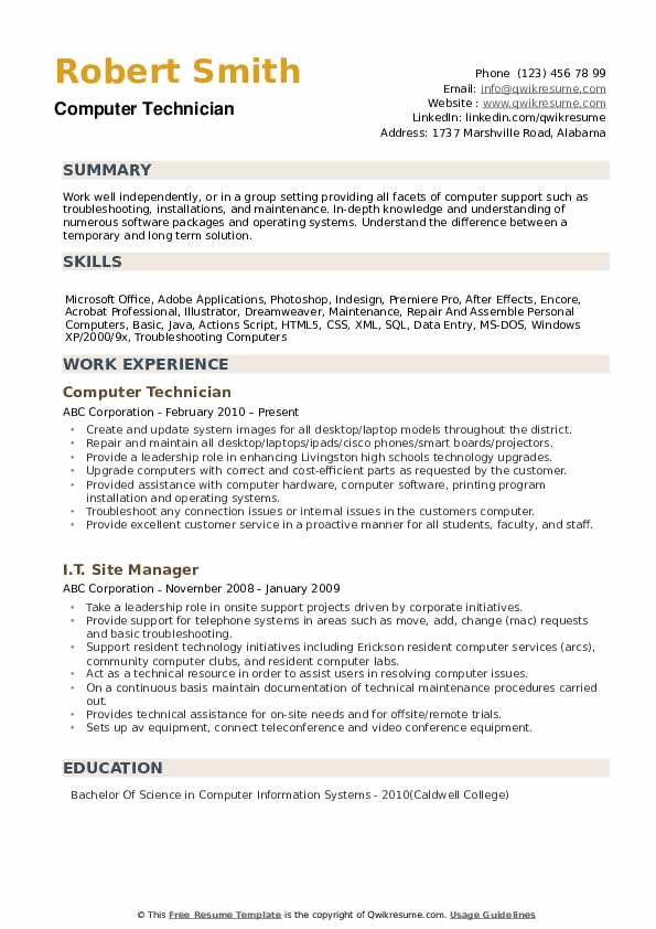 computer technician resume samples qwikresume support specialist examples pdf creative Resume Computer Support Specialist Resume Examples