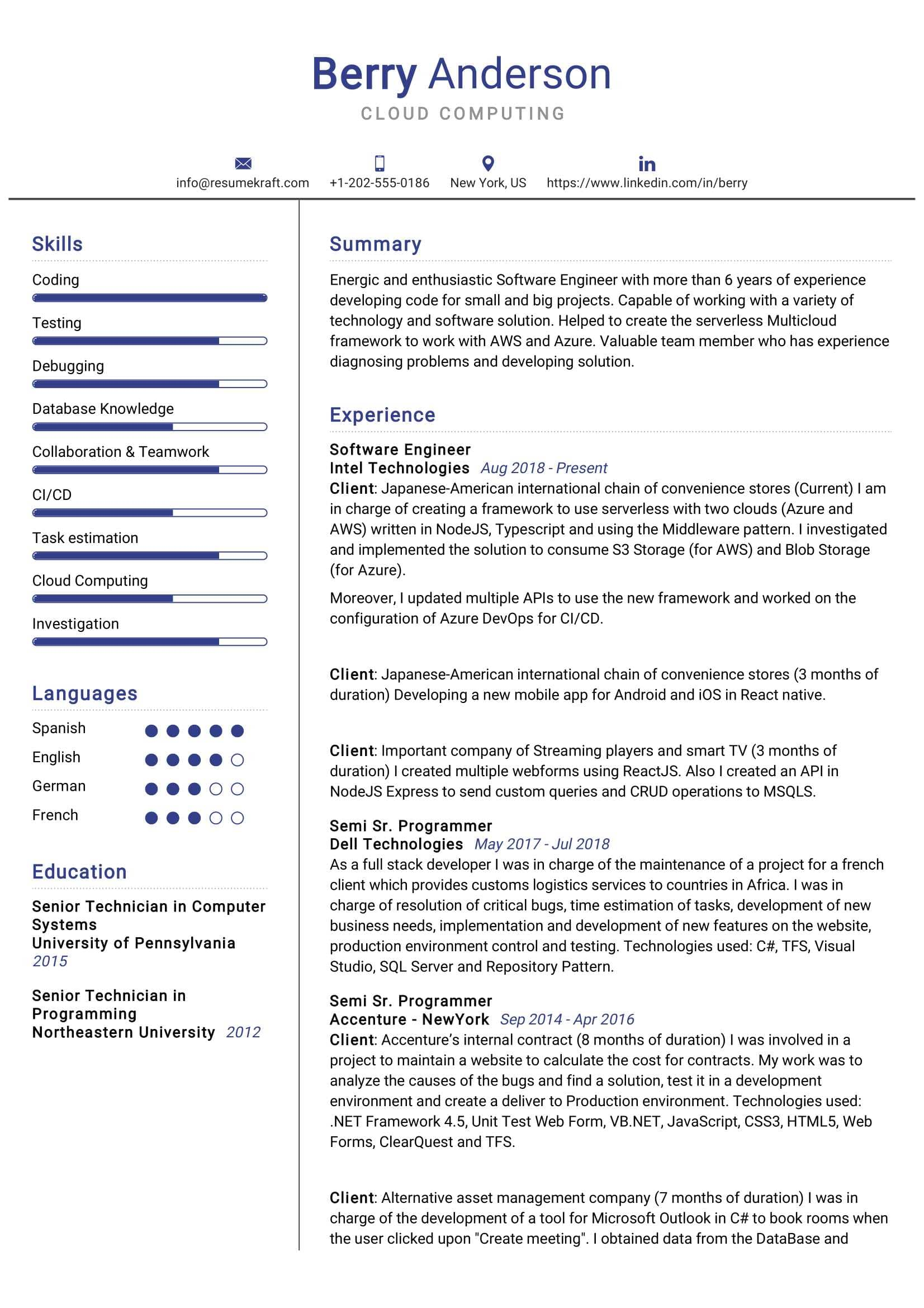 computing resume sample resumekraft react native example min controller cover letter Resume React Native Resume Example