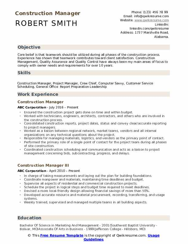 construction manager resume samples qwikresume assistant project pdf best examples canva Resume Assistant Project Manager Construction Resume