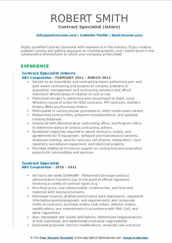 contract specialist resume samples qwikresume federal government pdf modern builder Resume Federal Government Contract Specialist Resume