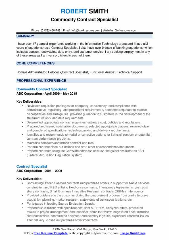 contract specialist resume samples qwikresume federal government pdf posting sites Resume Federal Government Contract Specialist Resume