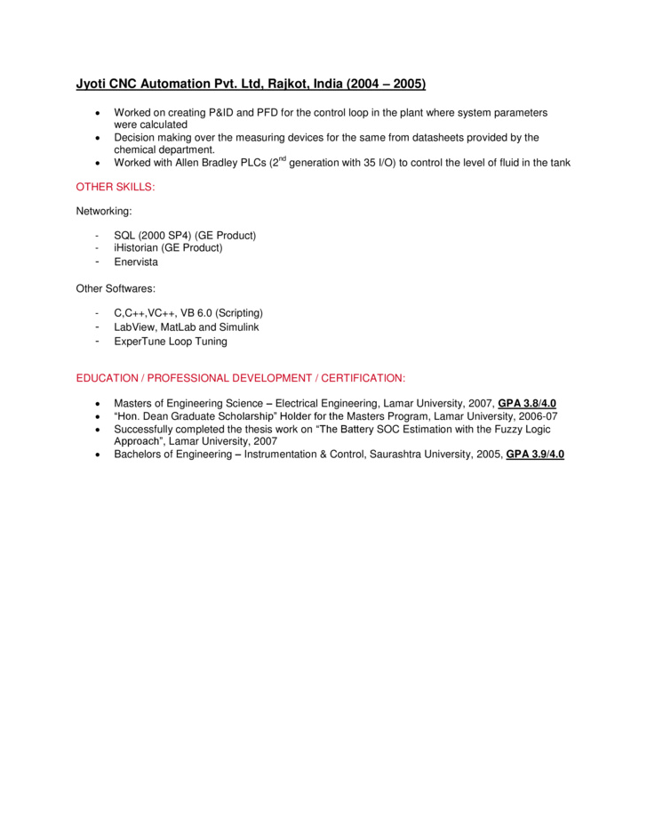 control system engineer resume systems sample radiologist duties and responsibilities Resume Control Systems Engineer Resume Sample
