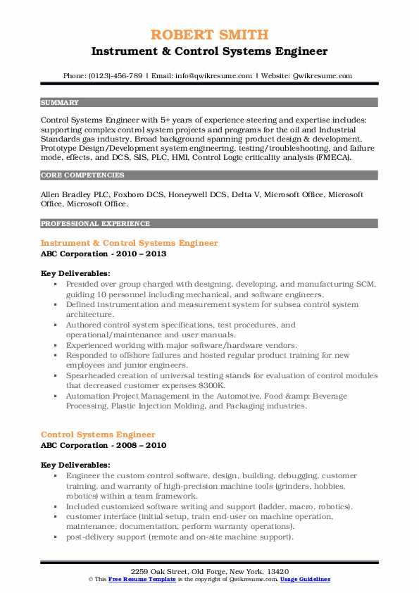 control systems engineer resume samples qwikresume sample pdf radio shack current for Resume Control Systems Engineer Resume Sample