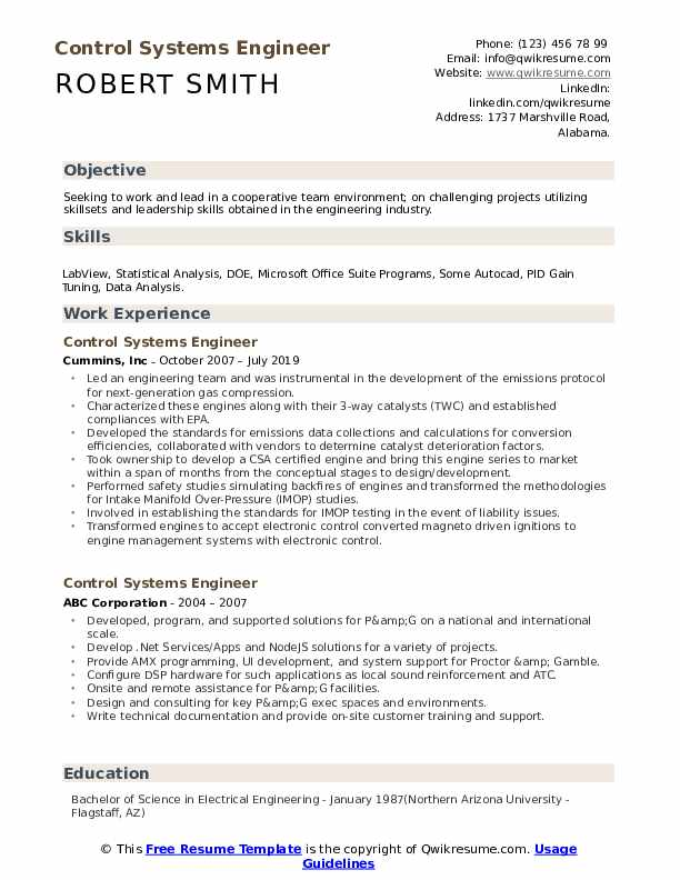 control systems engineer resume samples qwikresume sample pdf risk analyst creating cover Resume Control Systems Engineer Resume Sample