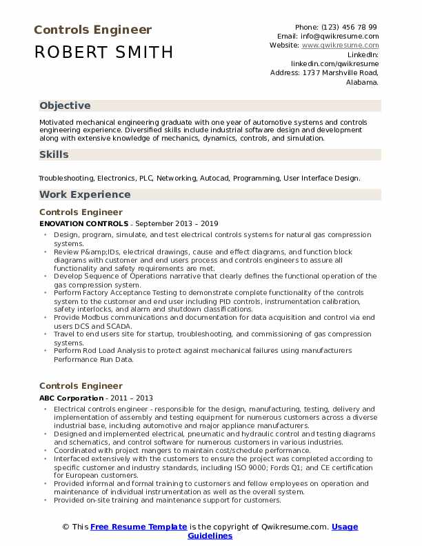 controls engineer resume samples qwikresume control systems sample pdf profile examples Resume Control Systems Engineer Resume Sample