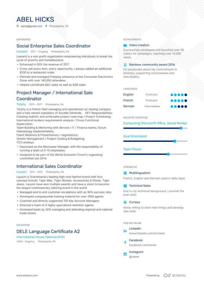 coordinator resume examples do and don ts for enhancv process retail job experience cyber Resume Process Coordinator Resume