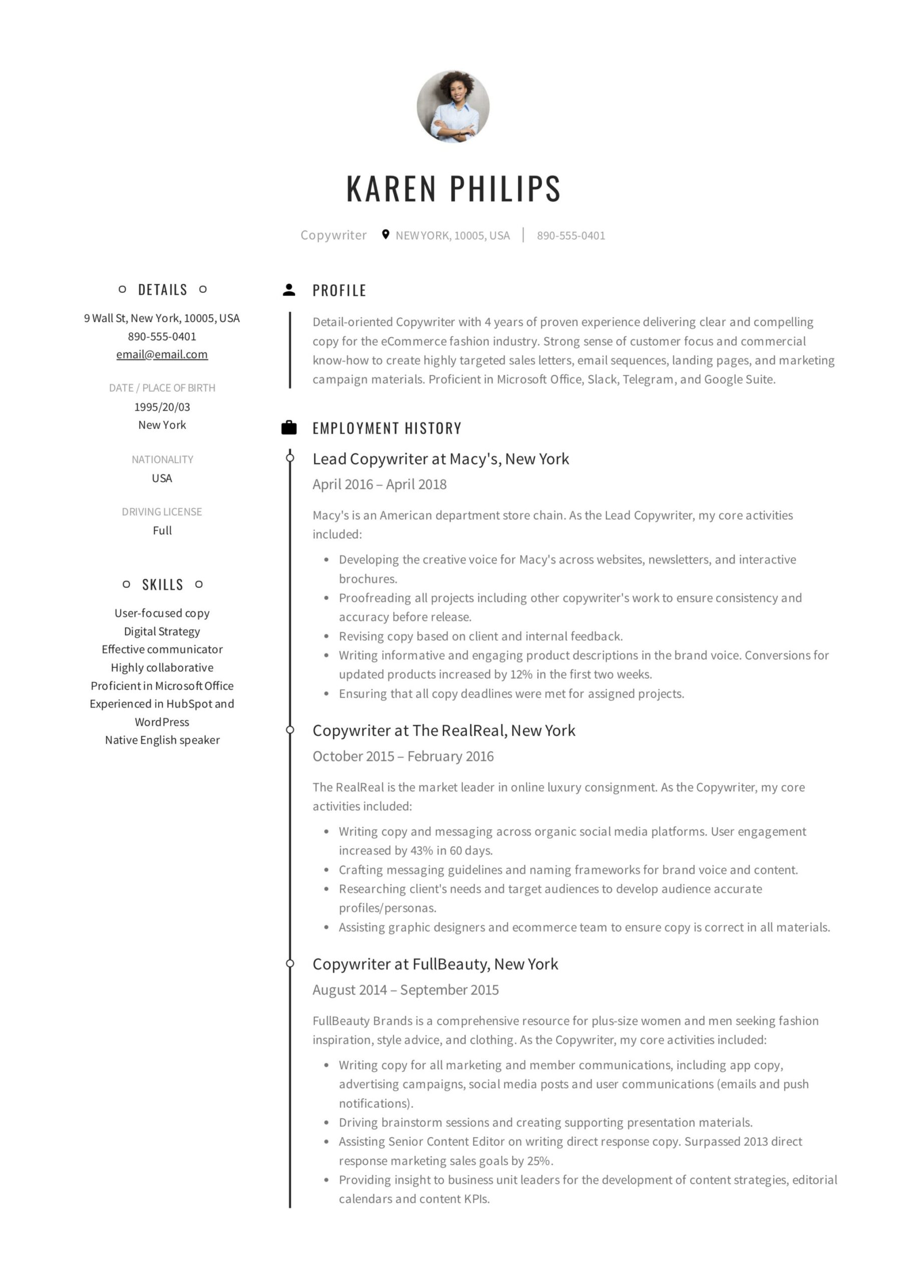 copywriter resume writing guide templates pdf entry level sample another name for Resume Entry Level Copywriter Resume