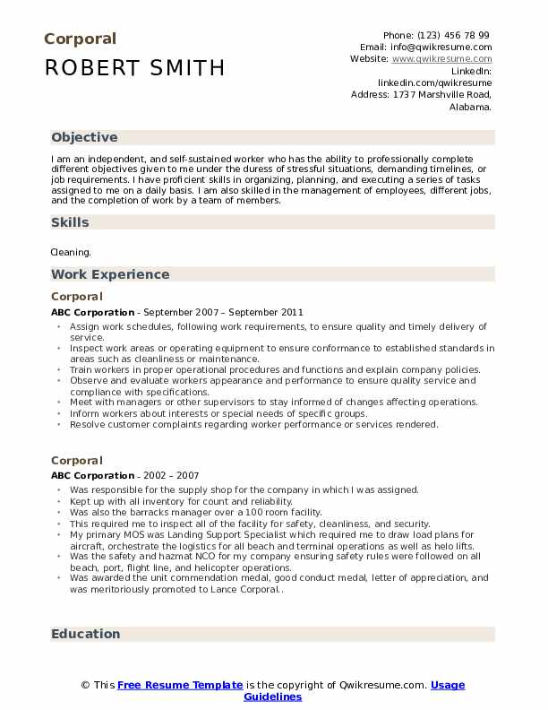 corporal resume samples qwikresume example of for criminology pdf fancy templates oracle Resume Example Of Resume For Criminology