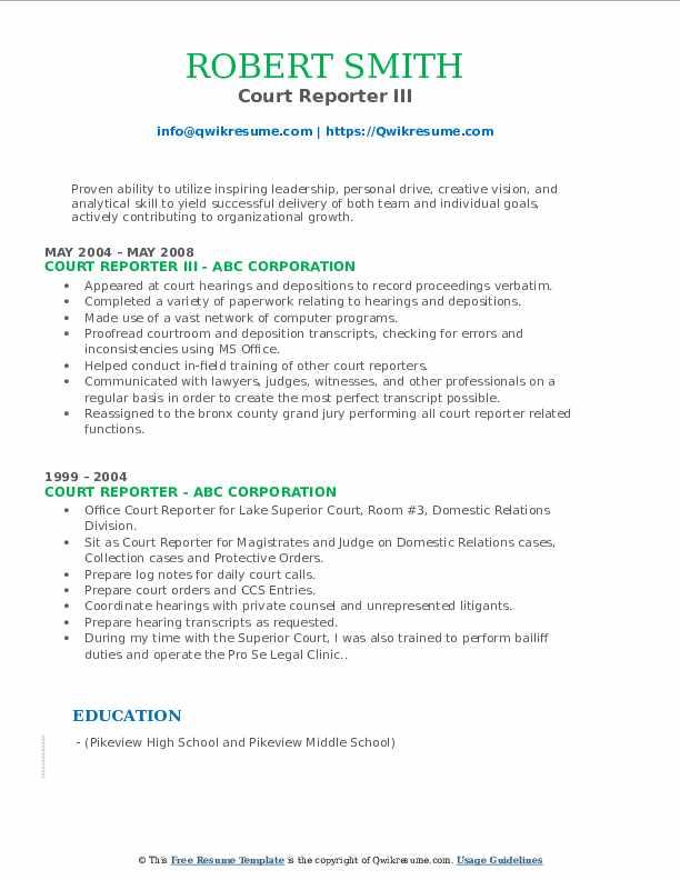 court reporter resume samples qwikresume freelance pdf applicant tracking system friendly Resume Freelance Court Reporter Resume