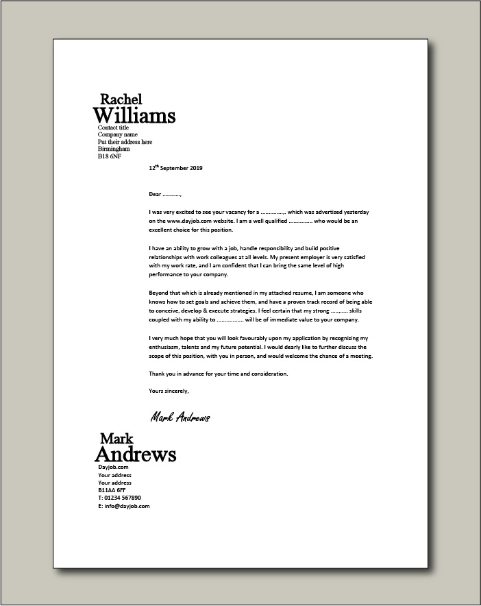cover letter examples for different job roles in dayjob free sample resume example Resume Free Sample Resume Letter